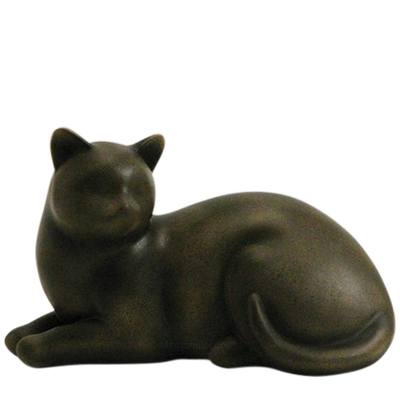 Sable Cozy Cat Cremation Urn