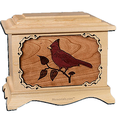 Cardinal Maple Cremation Urn For Two