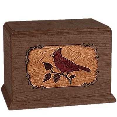 Cardinal Walnut Companion Urn