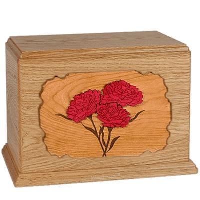 Carnation Oak Companion Urn