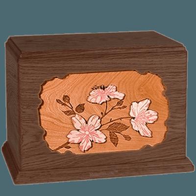 Cherry Blossom Walnut Companion Urn
