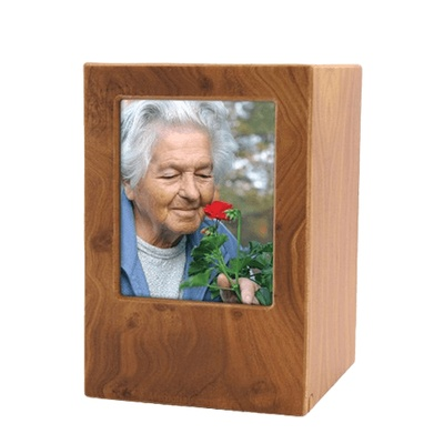 Natural Eternity Medium Photo Wood Urn