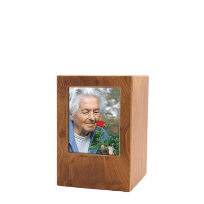 Natural Eternity Keepsake Photo Wood Urn