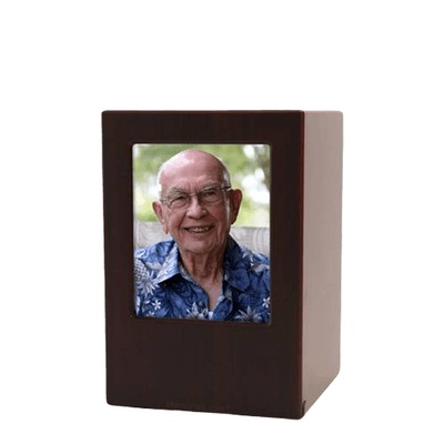 Cherry Eternity Small Photo Wood Urn