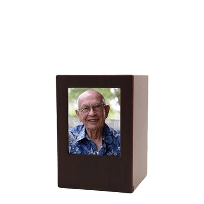 Cherry Eternity Keepsake Photo Wood Urn