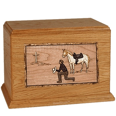 Cowboy Mahogany Companion Urn