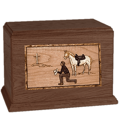 Cowboy Walnut Companion Urn