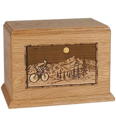 Cycling Oak Companion Urn