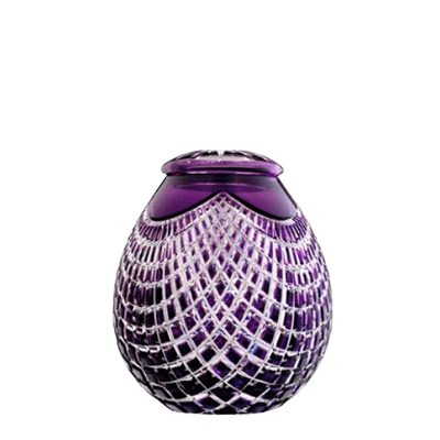 Caesar Glass Small Cremation Urn