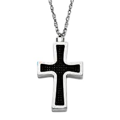Carbon Cross Keepsake Pendant