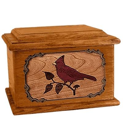 Cardinal Mahogany Memory Chest Cremation Urn