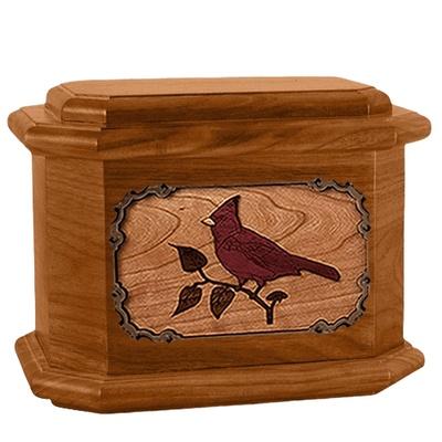 Cardinal Mahogany Octagon Cremation Urn