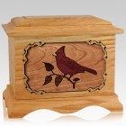 Cardinal Oak Cremation Urn
