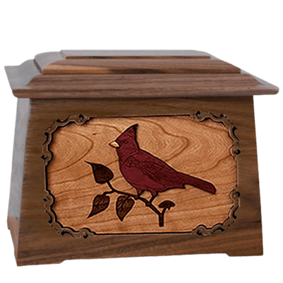 Cardinal Walnut Aristocrat Cremation Urn