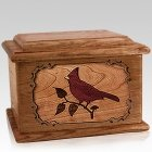 Cardinal Walnut Memory Chest Cremation Urn