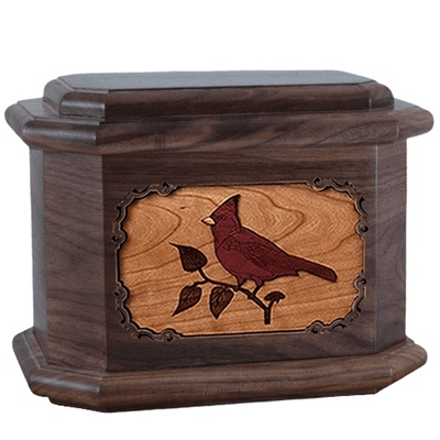 Cardinal Walnut Octagon Cremation Urn