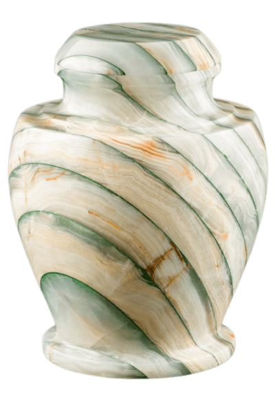 Carpel Green Onyx Marble Cremation Urns