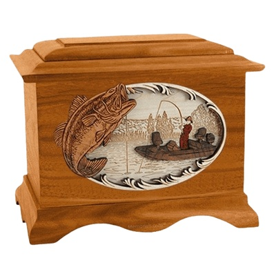 Catch of the Day Mahogany Cremation Urn
