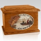 Catch of the Day Mahogany Memory Chest Cremation Urn