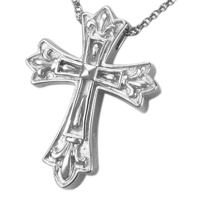 Cathedral Cross Cremation Pendant