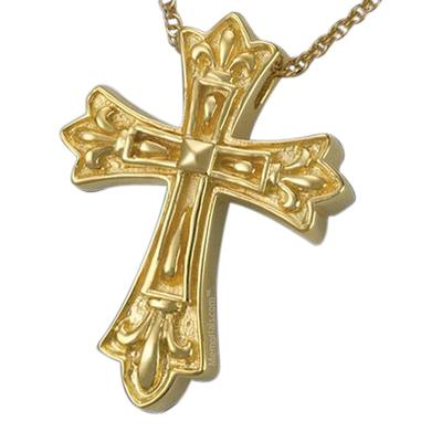 Cathedral Cross Cremation Pendant IV