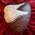 Celestial Ceramic Heart Urn
