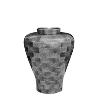 Charcoal Medium Wood Urn