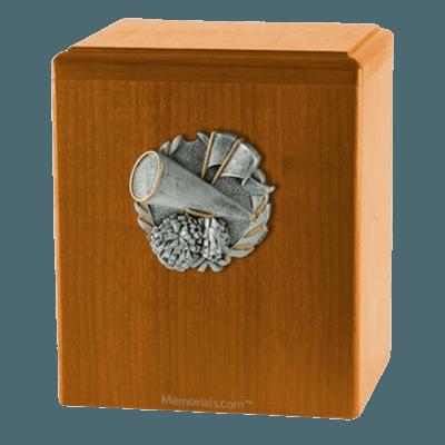 Cheerleader Oak Cremation Urn