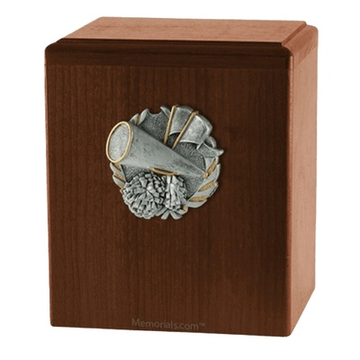 Cheerleader Walnut Cremation Urn