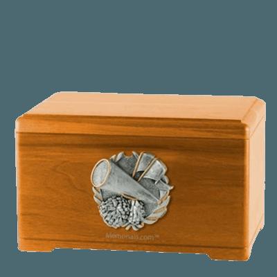 Cheerleading Oak Cremation Urn