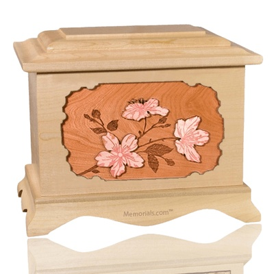 Cherry Blossom Maple Cremation Urn