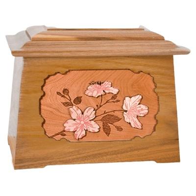Cherry Blossom Oak Aristocrat Cremation Urn