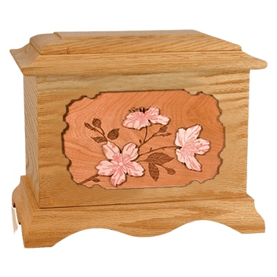 Cherry Blossom Oak Cremation Urn