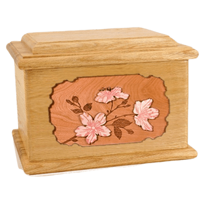 Cherry Blossom Oak Memory Chest Cremation Urn