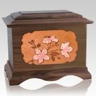 Cherry Blossom Wood Cremation Urns
