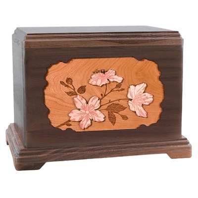Cherry Blossom Walnut Hampton Cremation Urn