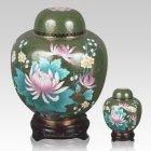 Oriental Lotus Cloisonne Cremation Urns