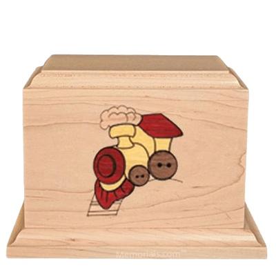 Choo Choo Children Wood Urn