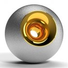 Chrome & Gold Orb Urn
