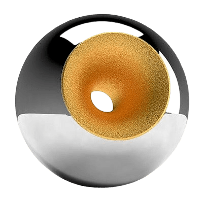 Chrome Gold Splice Orb Urn