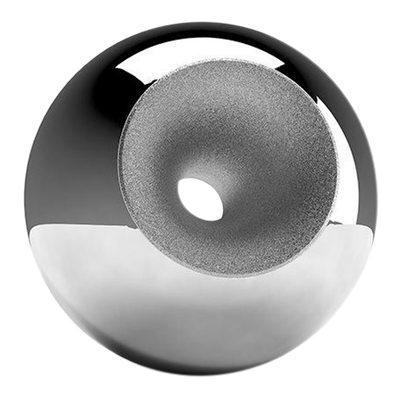 Chrome Modern Sphere Pet Urn