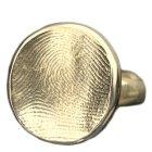 Circle Ring 14k Gold Print Keepsake