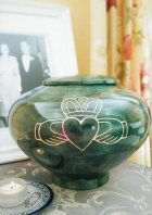Claddagh Wood Cremation Urn