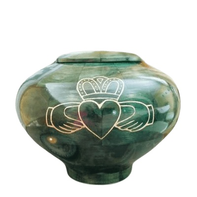 Claddagh Wood Cremation Urn