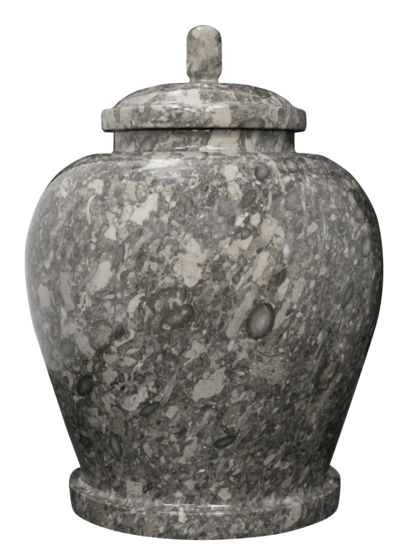Classic Taupe Marble Cremation Urn