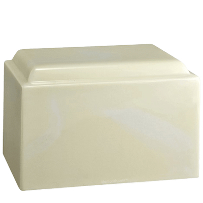Classic Cream Marble Cremation Urn