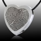 Classic Heart Stainless Cremation Print Keepsake