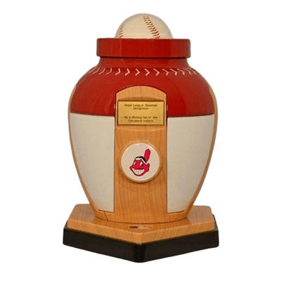 Cleveland Indians Baseball Cremation Urn