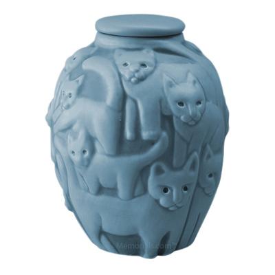 Clever Cat Blue Fog Cremation Urn