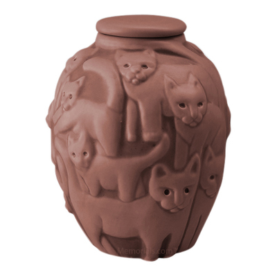 Clever Cat Claret Cremation Urn